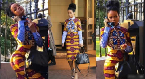 Rihanna Flaunts her Curves on Beautiful Ankara