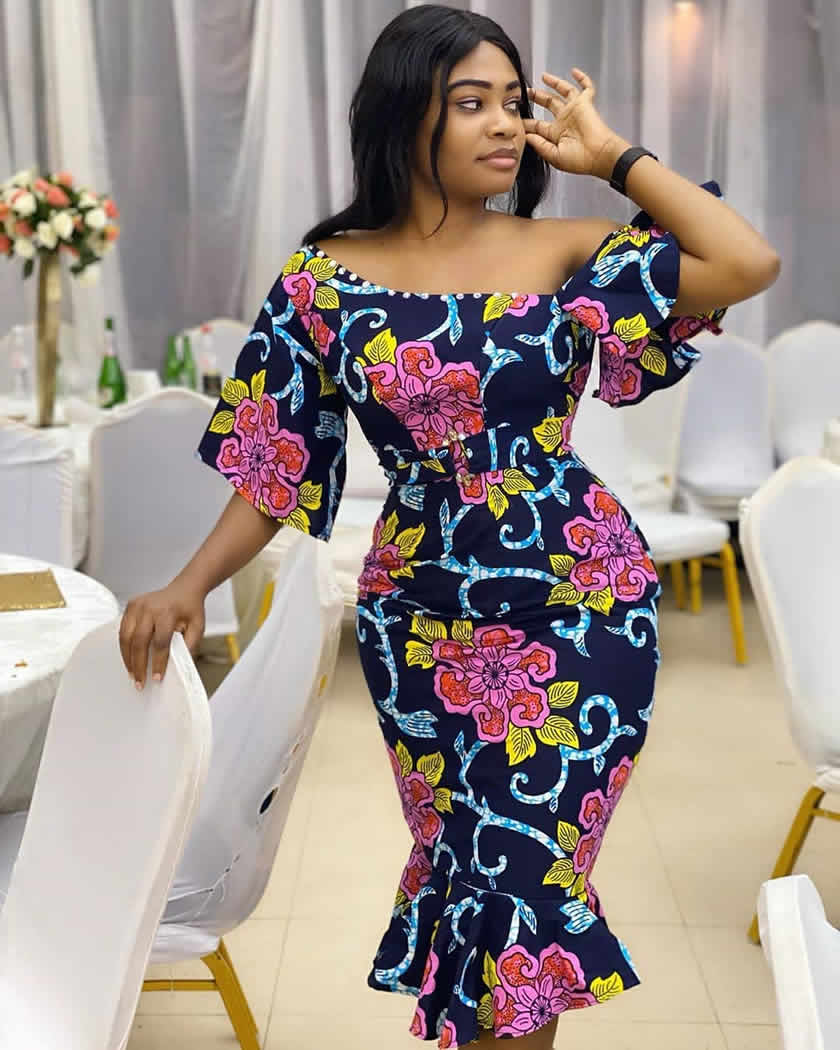 pretty african lady with curves