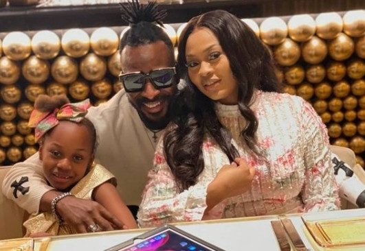 9ice, His Wife, Olasunkanmi And Daughter On Vacation In Dubai