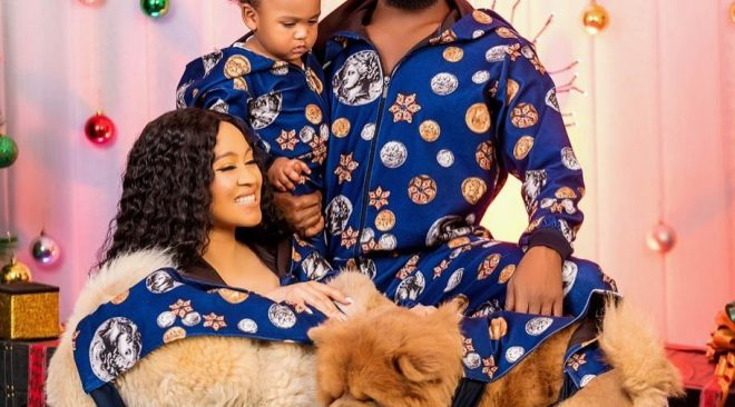D'Banj Christmas Photos With His Wife And Son