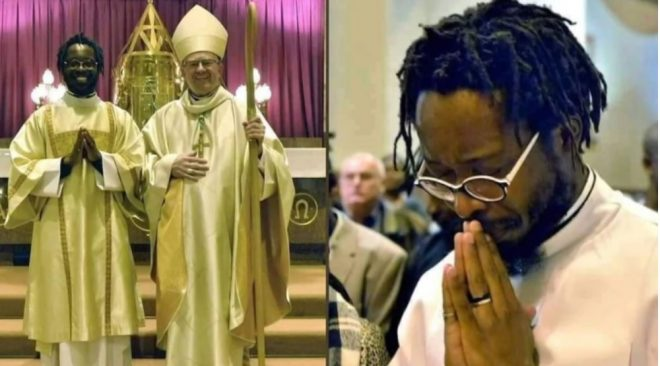 Reactions as a man with dreadlocks is ordained as Catholic priest