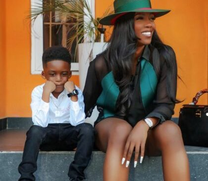 Tiwa Savage Spends ₦700k On Christian Dior Backpack For Son, Jamil (video)